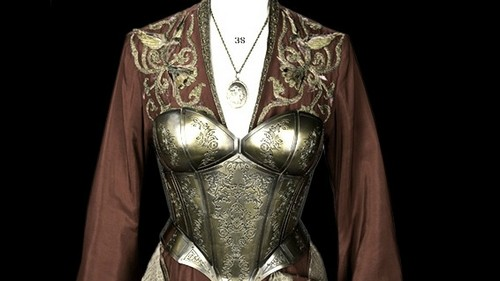 Game of Thrones wallpaper probably containing a breastplate called Cersei's armor