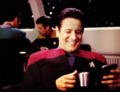 Chakotay reading JC fanfic - Chakotay approves