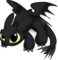 ちび Toothless (How to Train Your Dragon)
