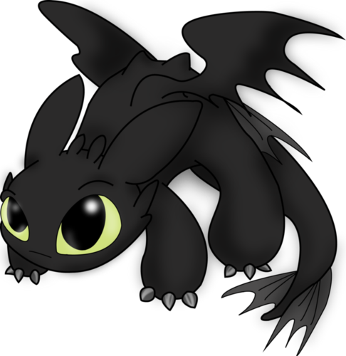 Fantasy wallpaper called Chibi Toothless (How to Train Your Dragon)