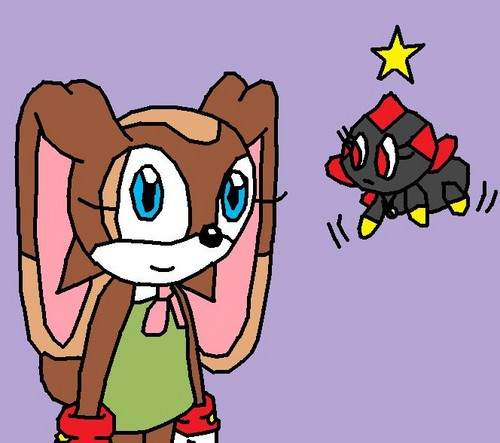 Choco the rabbit and Darkness the chao or sally