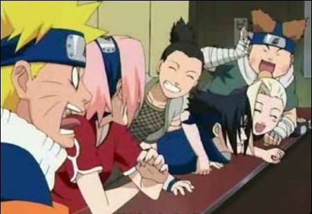 Choji, Shikamaru, Ino! Out of the way!!!