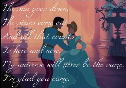 Cinderella and Prince Charming-Glad You Came