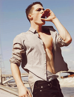 Colton Haynes wallpaper probably with an outerwear, a well dressed person, and a hip boot entitled Colton Haynes by Ben Cope