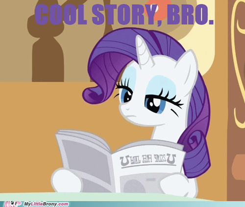 Cool story Rarity