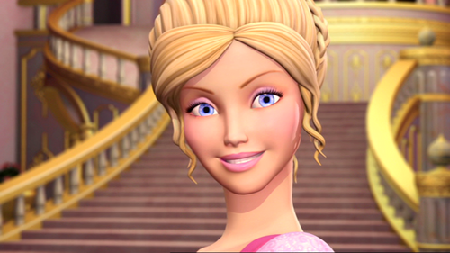 Corinne from the barbie filmes Collection trailer... OMK her huge eyes!