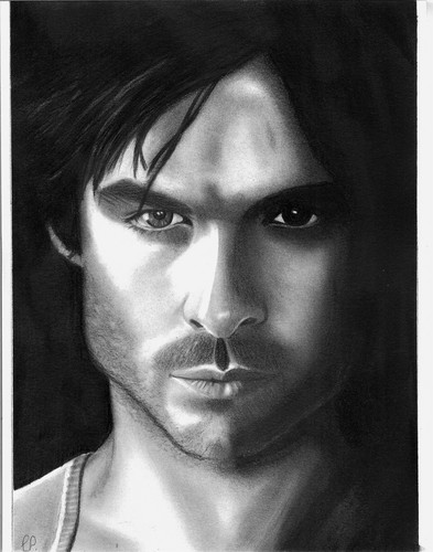 Damon Salvatore- original drawing