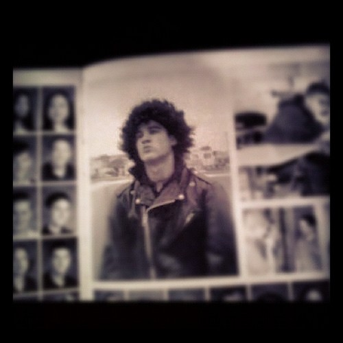 Darren in his high school yearbook