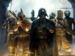 Darth Vader With Bounty Hunters