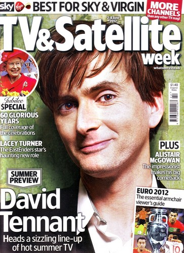 David Tennant The Cover étoile, star Of TV & Satellite Week