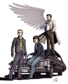 Dean, Sam, Castiel - dean-castiel-and-sam fan art