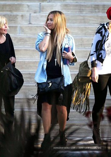 Demi - Leaving a friend's house in Beverly Hills, CA - May 27, 2012