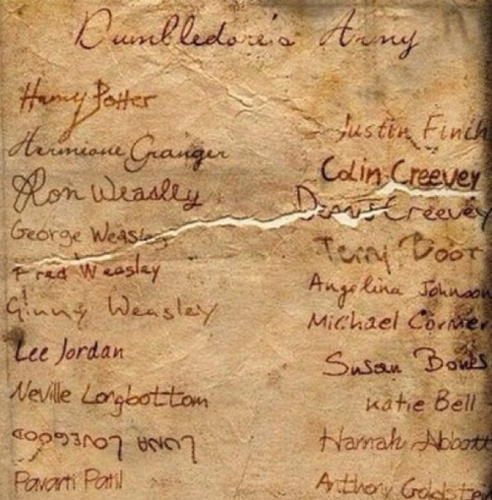 harry potter wallpaper possibly with a sign called Dumbledore's Army Sign up Sheet