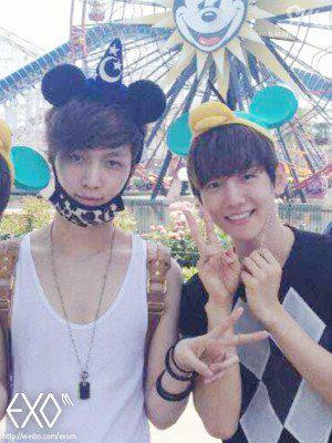 EXO-M & EXO-K at Disney Land