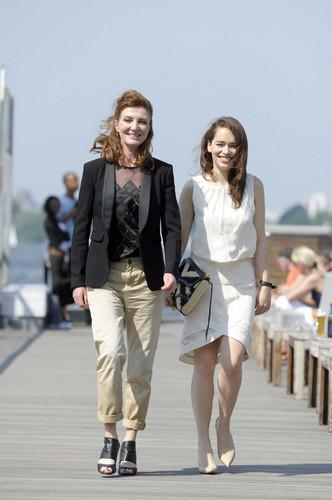 Emilia Clarke & Michelle Fairley Sky Atlantic HD Launchparty - Photocall