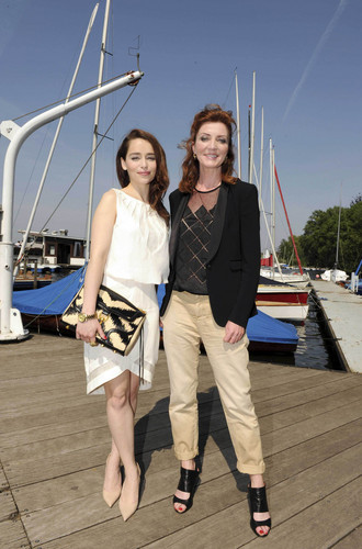 Emilia Clarke & Michelle Fairley Sky Atlantic HD Launchparty - Photocall