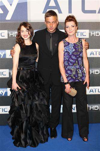 Game of Thrones karatasi la kupamba ukuta entitled Emilia clarke, Tom Wlaschiha & Michelle Fairley @ Sky Atlantic HD Launchparty In Hamburg