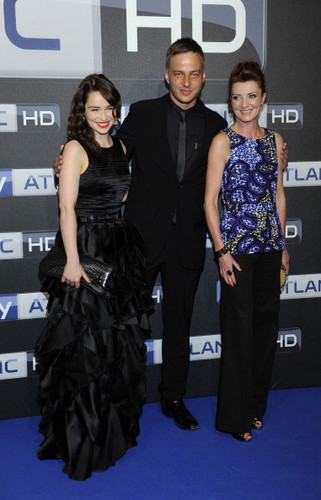 Emilia clarke, Tom Wlaschiha & Michelle Fairley @ Sky Atlantic HD Launchparty