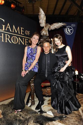 Emilia clarke, Tom Wlaschiha & Michelle Fairley @ Sky Atlantic HD Launchparty