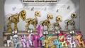 Evolution of earth ponykind