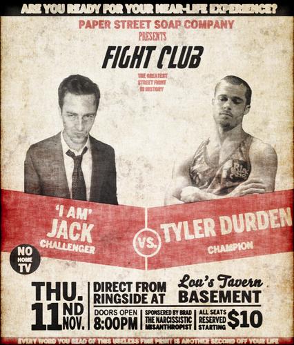 Fight Club Retro Boxing Poster