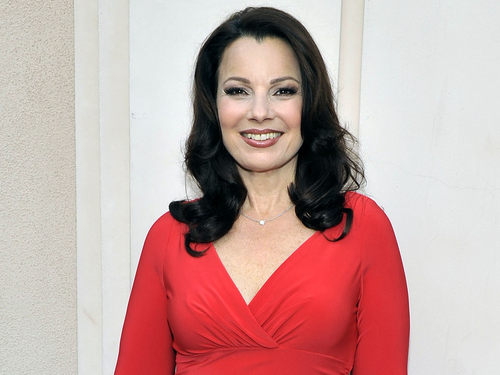 Fran Drescher karatasi la kupamba ukuta possibly with a well dressed person, a shirtwaist, and an overgarment titled Fran