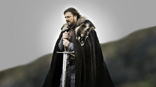 Sean Bean wallpaper with a cloak titled Game Of Thrones