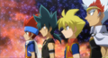 Gingka, Kyoya, Chris and Ryuga