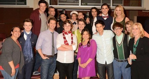 ग्ली behind the scenes last few episodes season 3