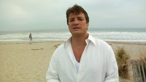 Nathan Fillion 壁纸 containing a beach, an oceanfront, and a seaside entitled Gorgeous Nathan