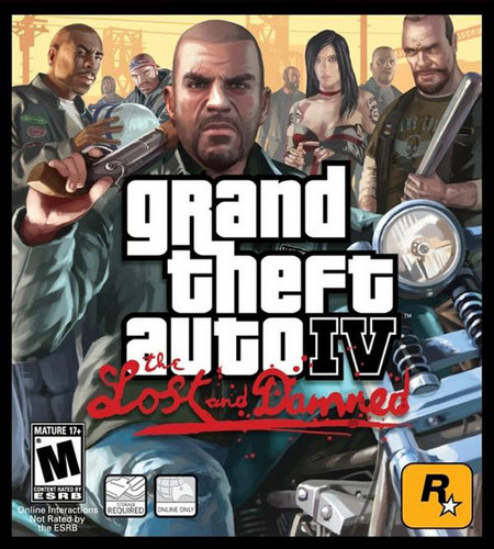 Grand Theft Auto IV The lost And Damned fondo de pantalla possibly containing a newspaper and anime entitled Grand Theft Auto IV The lost And Damned Game Cover
