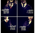 Gryffindor, Slytherin, Ravenclaw, and Hufflepuff