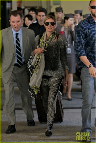 Heidi Klum: Back from Cannes!