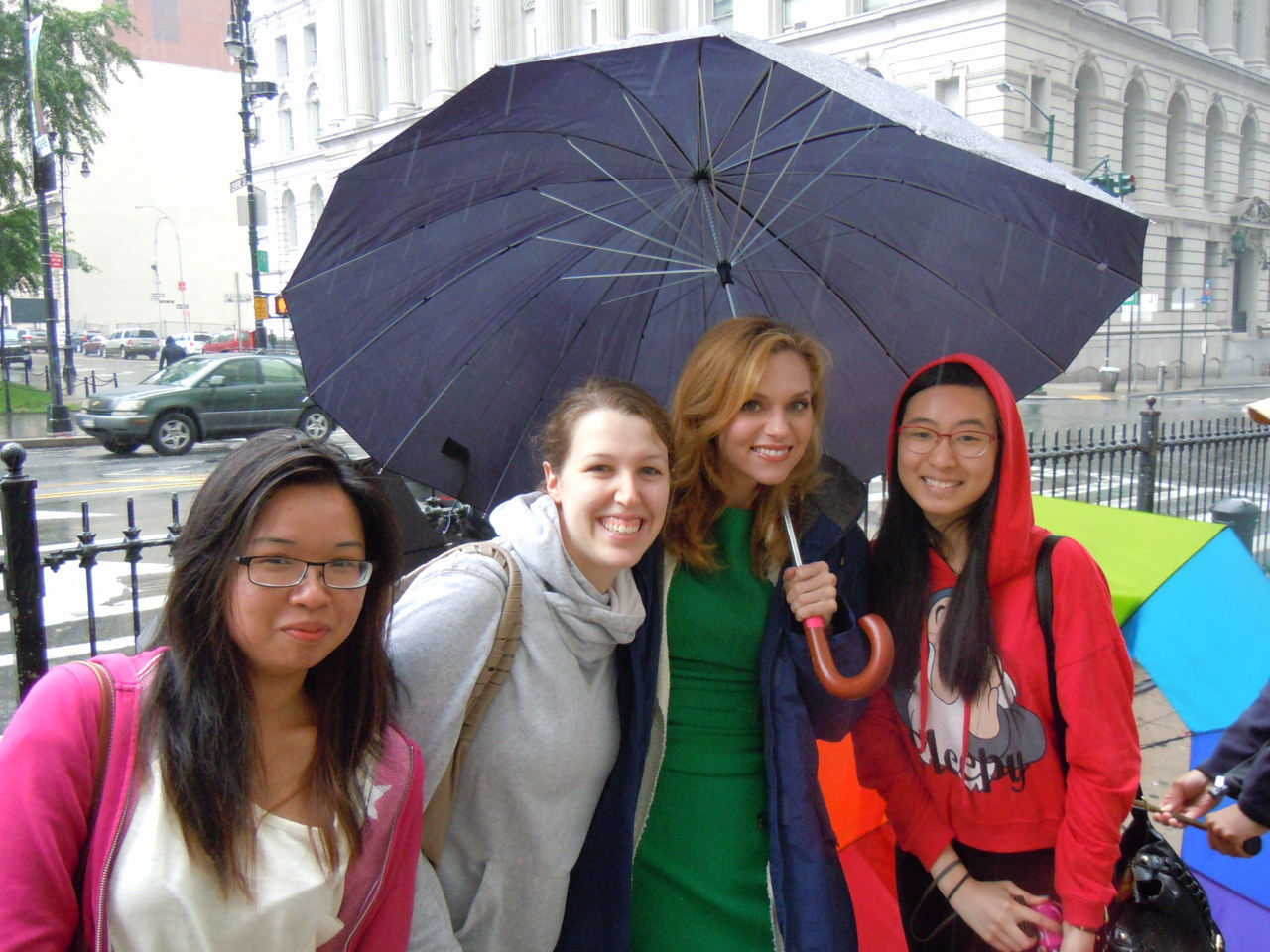 Hilarie Burton On White Collar Set