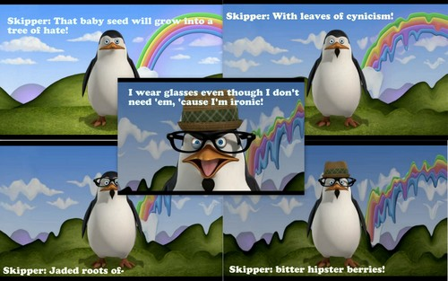 Penguins of Madagascar wallpaper called Hipster Freezeframe