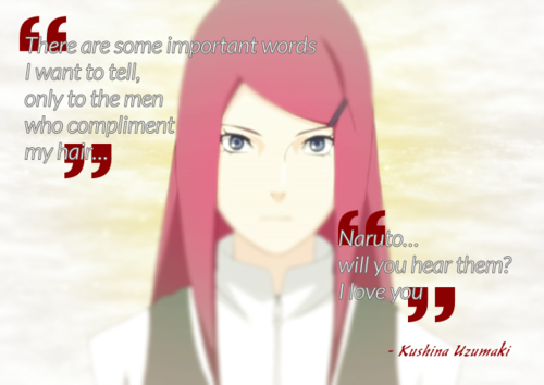 Kushina Uzumaki wallpaper probably with a portrait titled ILoveYou