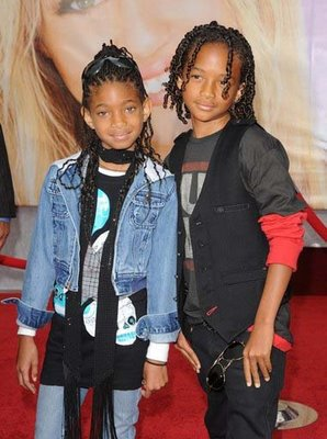 Jaden and Willow at the premeirs of Hannah Montana:the movie