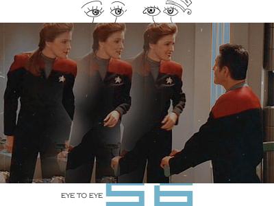 Janeway and Chakotay - Eye to Eye