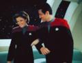 Janeway and Chakotay - Love birds