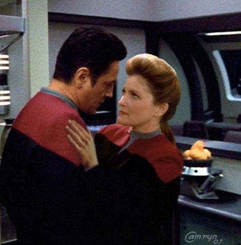 Janeway and Chakotay - Voyager days