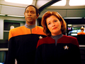 Janeway and Tuvok - star-trek-voyager photo