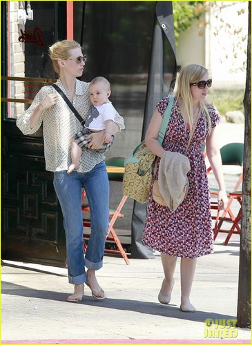 January Jones wallpaper possibly with a street titled January Jones: Little Dom's Lunch with Xander!