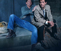 Jensen Ackles And Misha Collins Wallpaper With A Business Suit Entitled Jen Mish 1