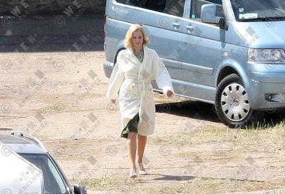 Jennifer on the set of Serena