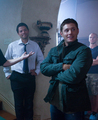 Jensen and Misha BTS