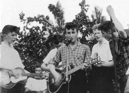 John Lennon performing in 1957