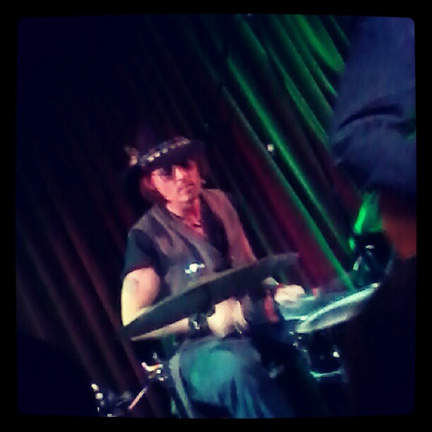 Johnny Depp at a concert by Bill Carter, Mint Club, May 25