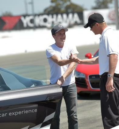 Josh at the Infineon raceway in Napa