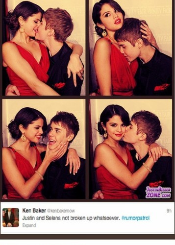 justin bieber, selena gomez, jelena, rumors, NOT BROKEN UP! - justin-bieber Photo