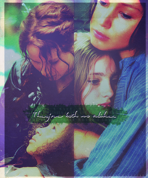 Katniss, Primrose, and Rue